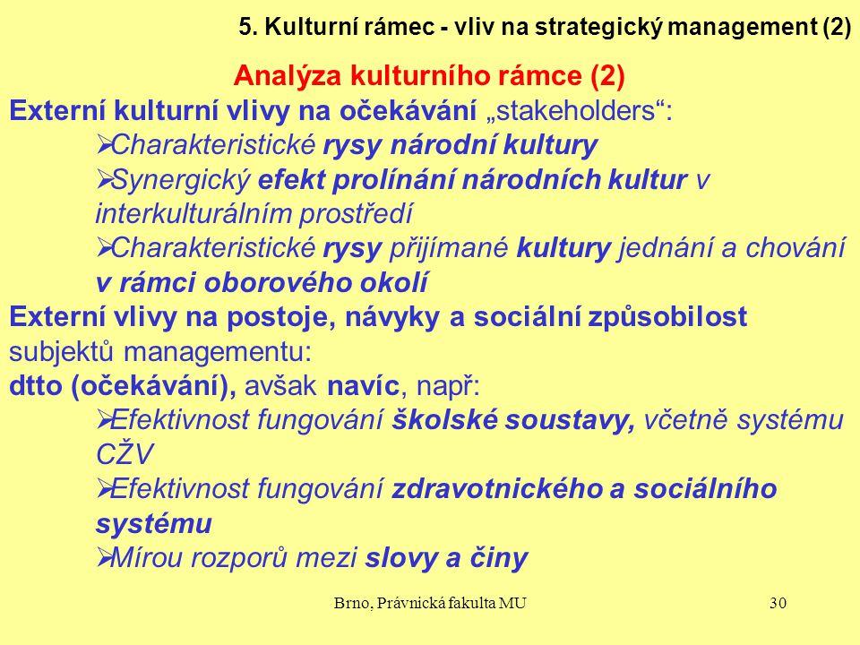 Analýza kulturního rámce (2)