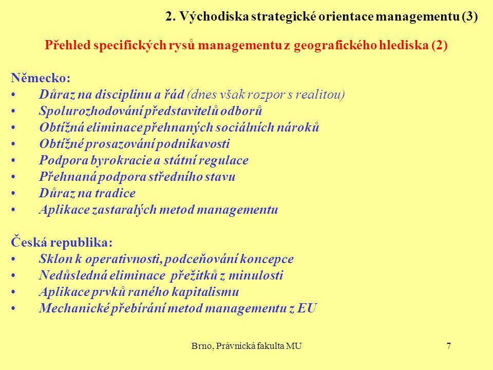 2. Východiska strategické orientace managementu (3)