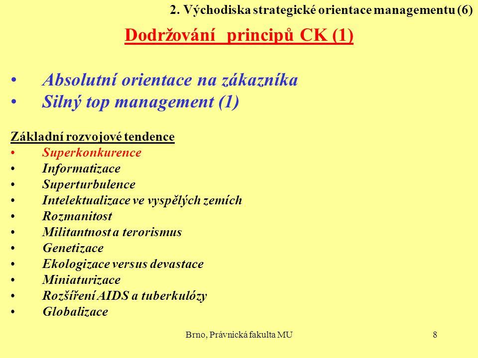 2. Východiska strategické orientace managementu (6)