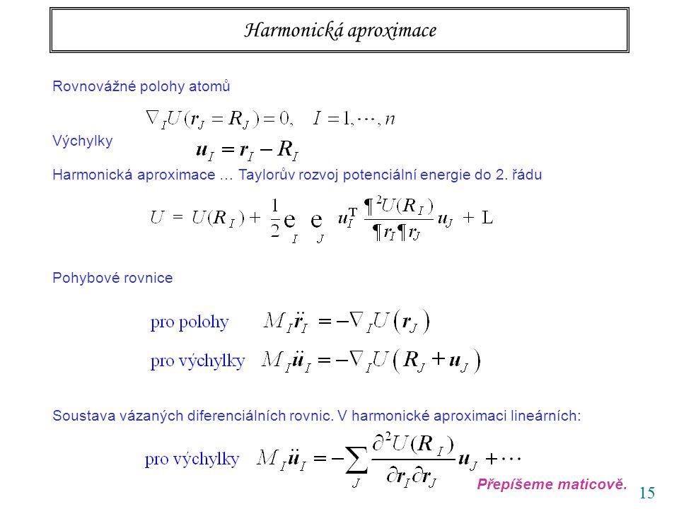 Harmonická aproximace