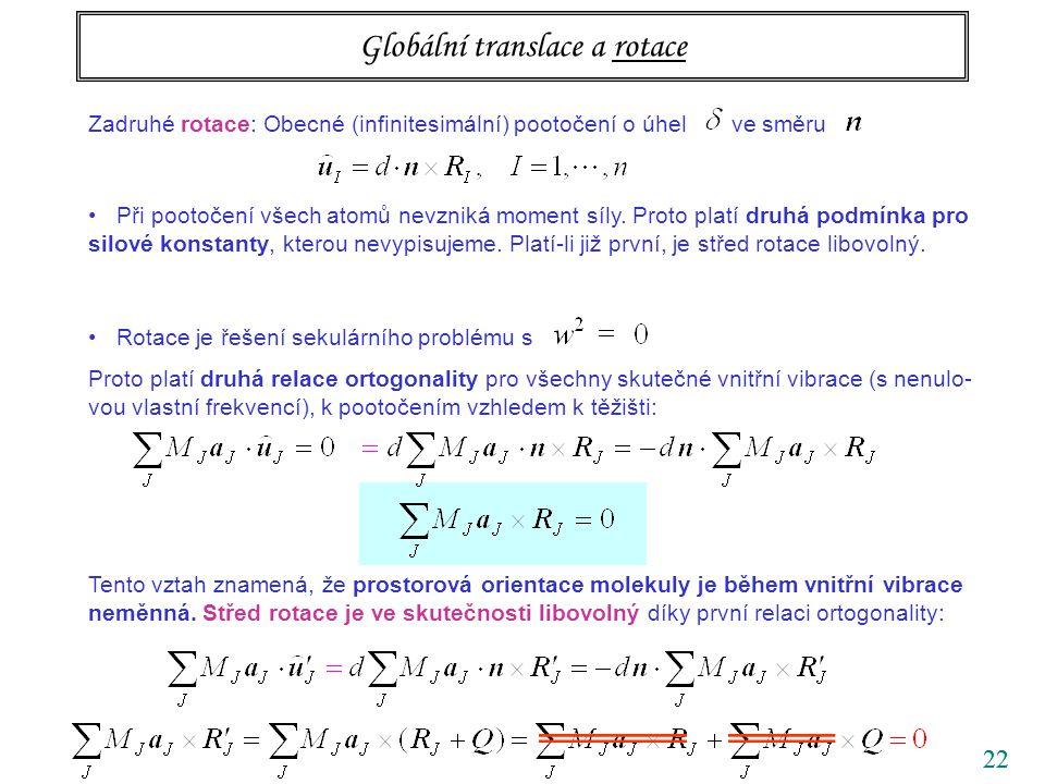 Globální translace a rotace