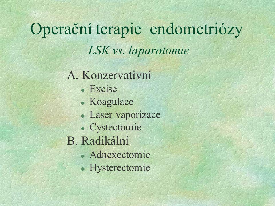 Operační terapie endometriózy LSK vs. laparotomie
