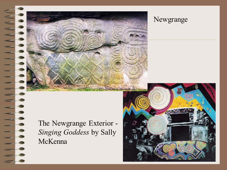 Newgrange The Newgrange Exterior - Singing Goddess by Sally McKenna