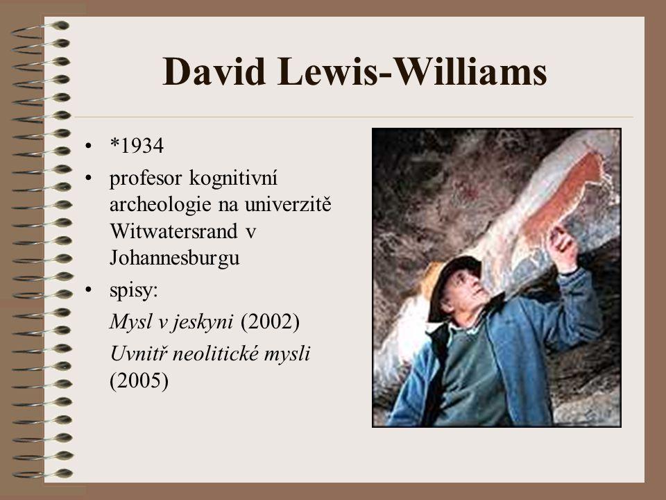 David Lewis-Williams *1934