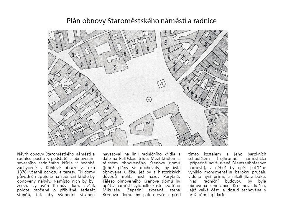 Plán obnovy Staroměstského náměstí a radnice