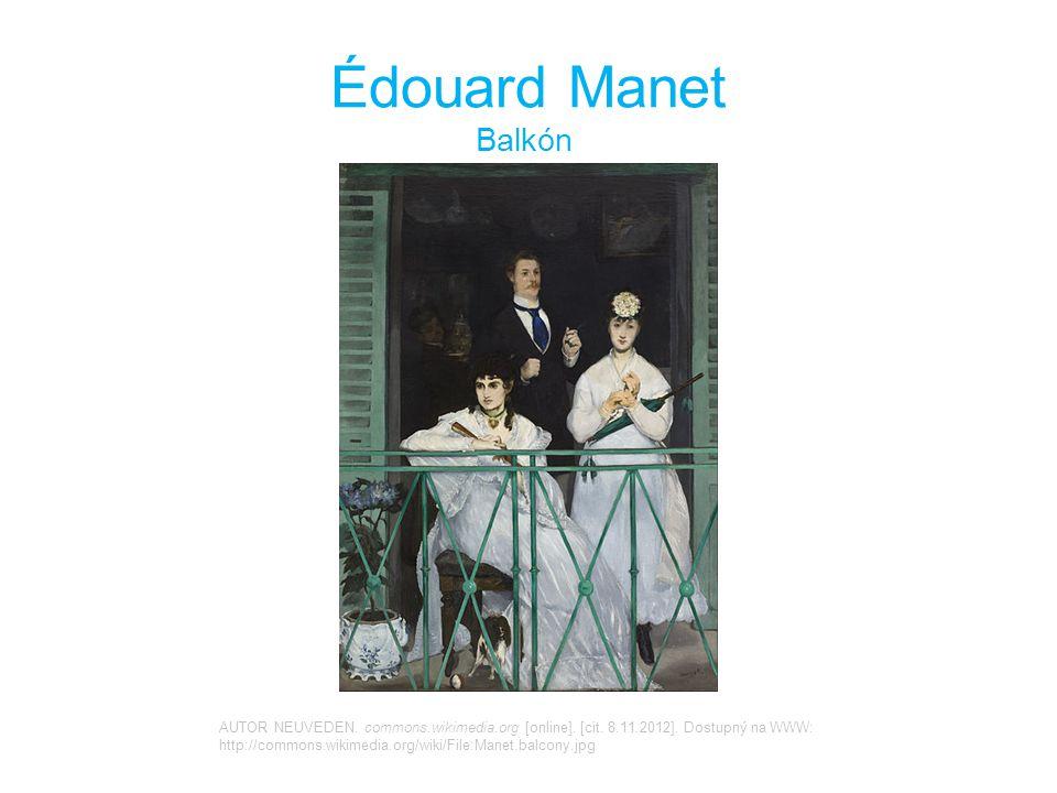 Édouard Manet Balkón.