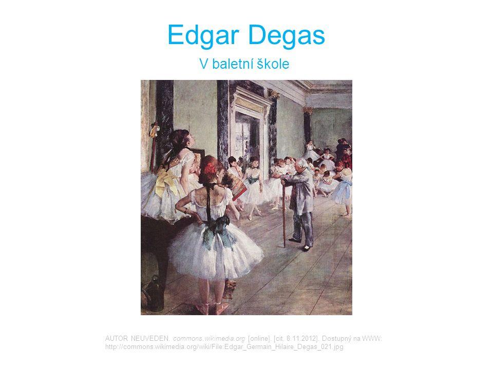 Edgar Degas V baletní škole