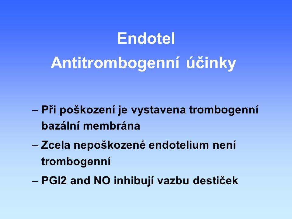 Antitrombogenní účinky