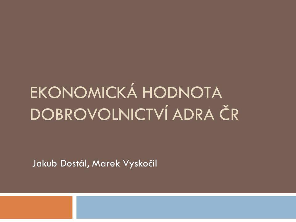 Ekonomická hodnota dobrovolnictví ADRA ČR