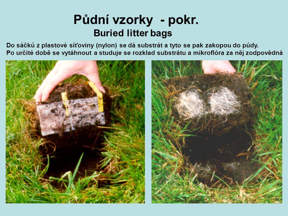 Půdní vzorky - pokr. Buried litter bags