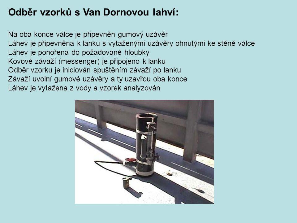 Odběr vzorků s Van Dornovou lahví:
