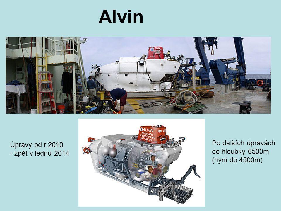 Alvin Po dalších úpravách Úpravy od r.2010 do hloubky 6500m
