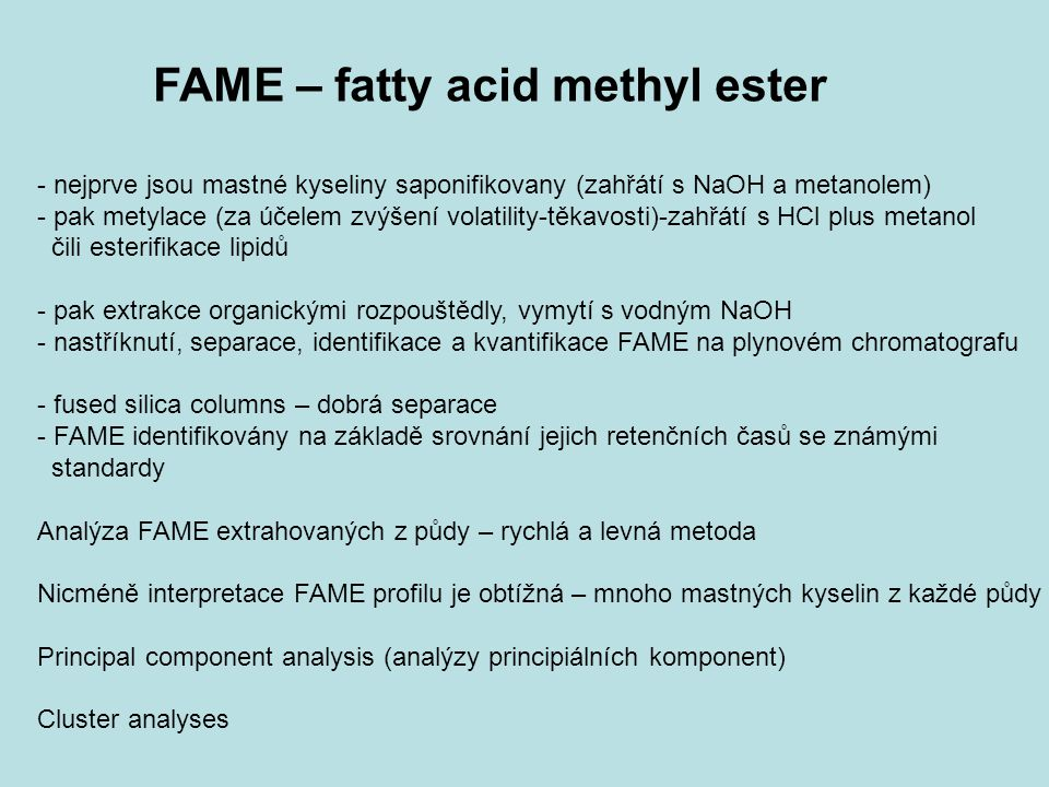 FAME – fatty acid methyl ester