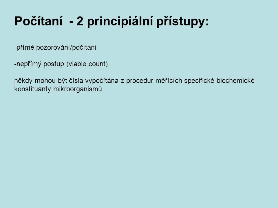 Počítaní - 2 principiální přístupy: