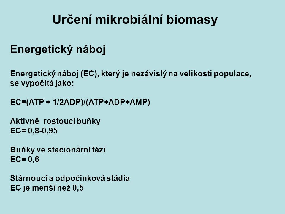Určení mikrobiální biomasy