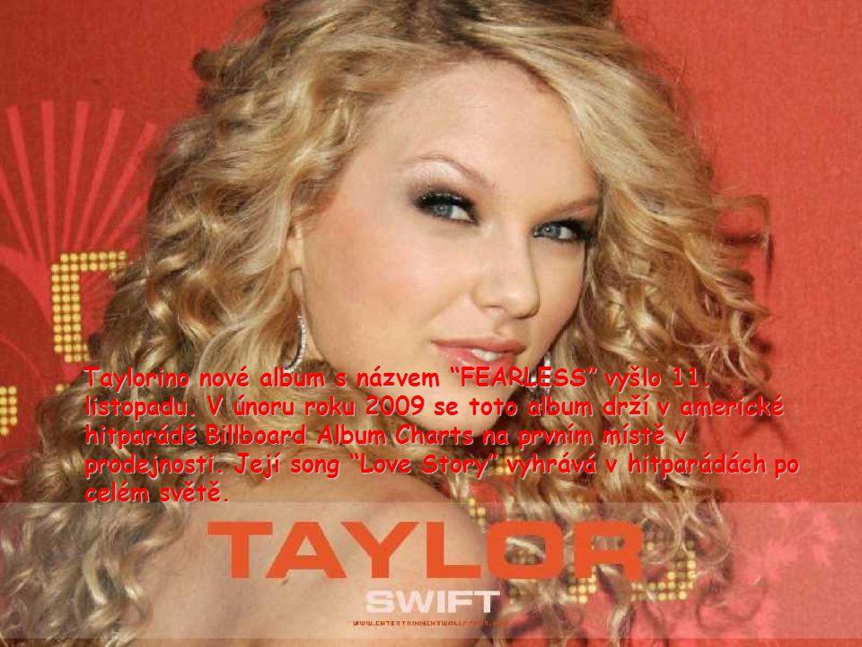 Taylorino nové album s názvem FEARLESS vyšlo 11. listopadu