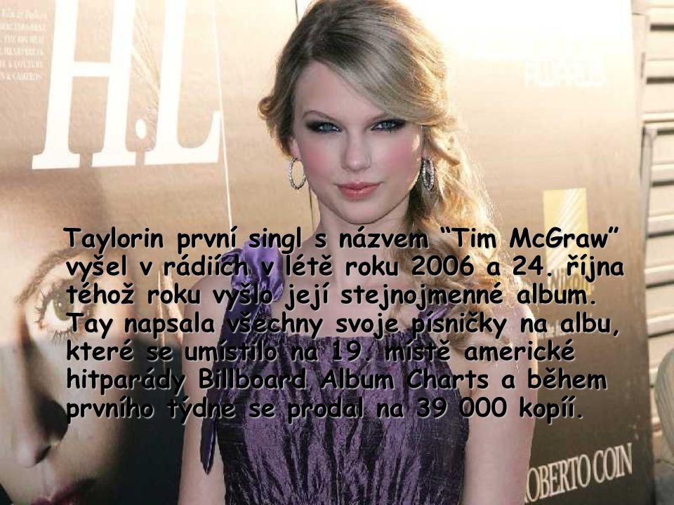 Taylorin první singl s názvem Tim McGraw vyšel v rádiích v létě roku 2006 a 24.