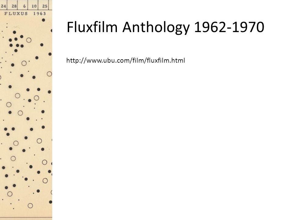 Fluxfilm Anthology 1962-1970 http://www.ubu.com/film/fluxfilm.html