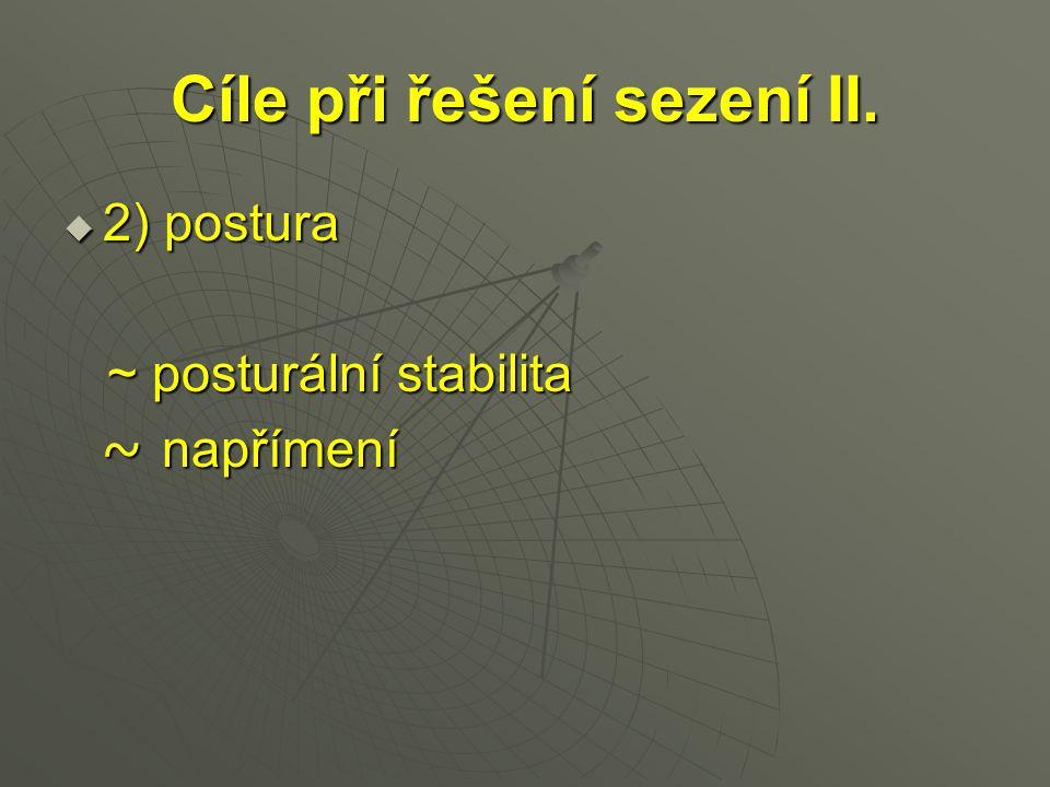 Cíle při řešení sezení II.