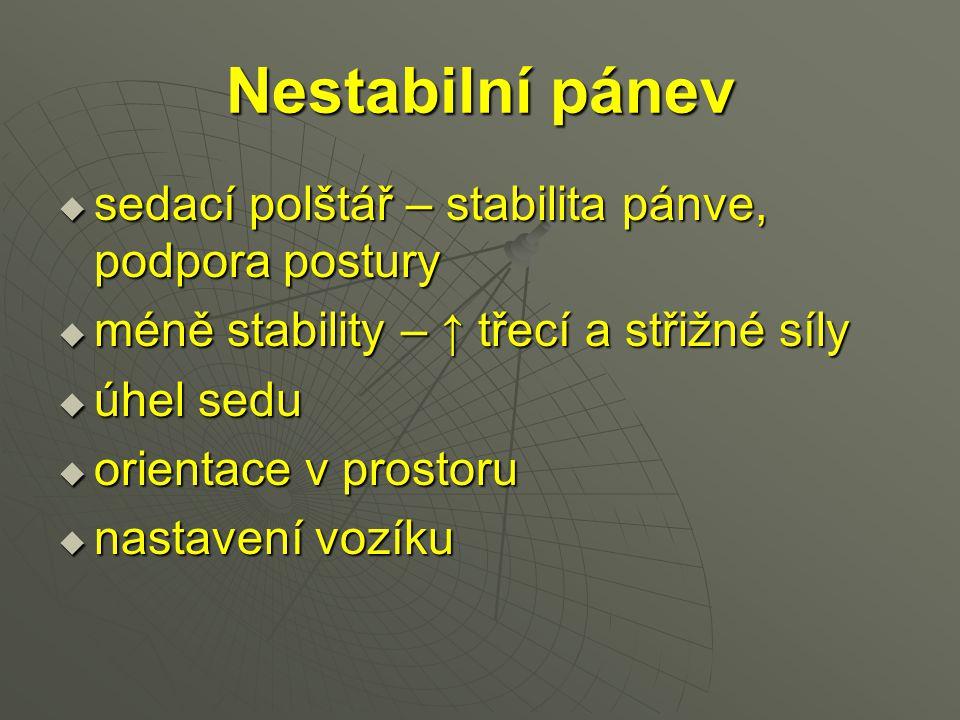 Nestabilní pánev sedací polštář – stabilita pánve, podpora postury
