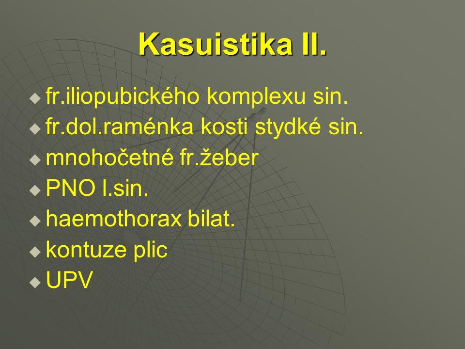 Kasuistika II. fr.iliopubického komplexu sin.