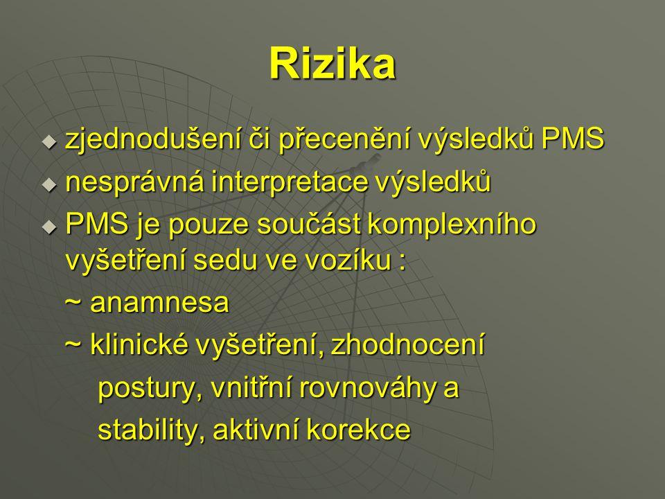 Rizika zjednodušení či přecenění výsledků PMS