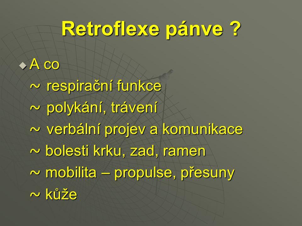 Retroflexe pánve A co ~ respirační funkce ~ polykání, trávení
