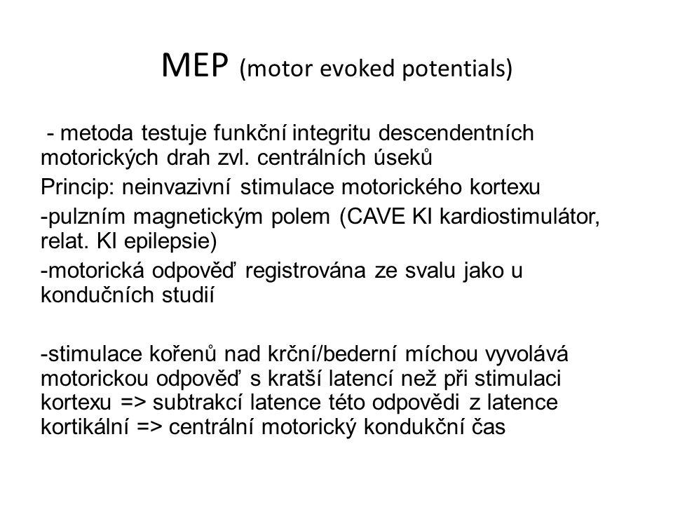 MEP (motor evoked potentials)