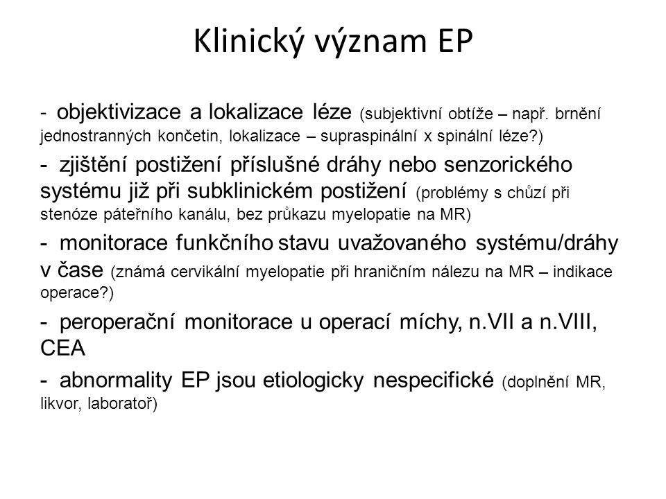 Klinický význam EP