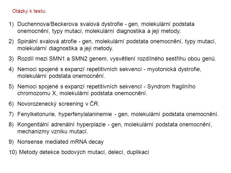 Novorozenecký screening v ČR.