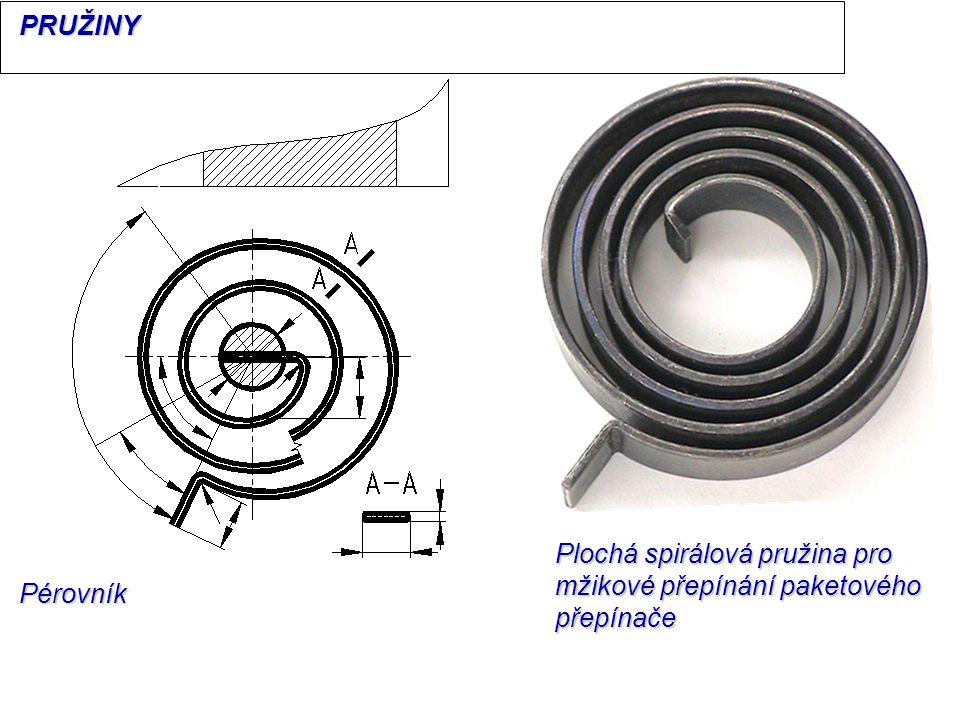 PRUŽINY Plochá spirálová pružina pro mžikové přepínání paketového přepínače Pérovník