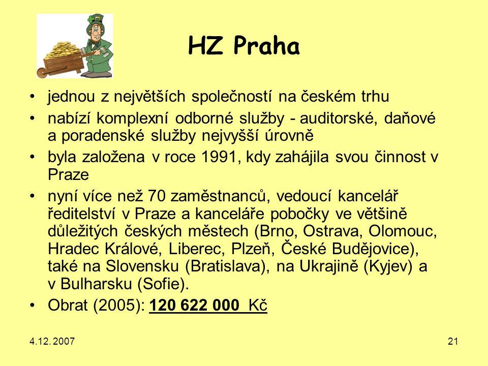 HZ Praha jednou z největších společností na českém trhu