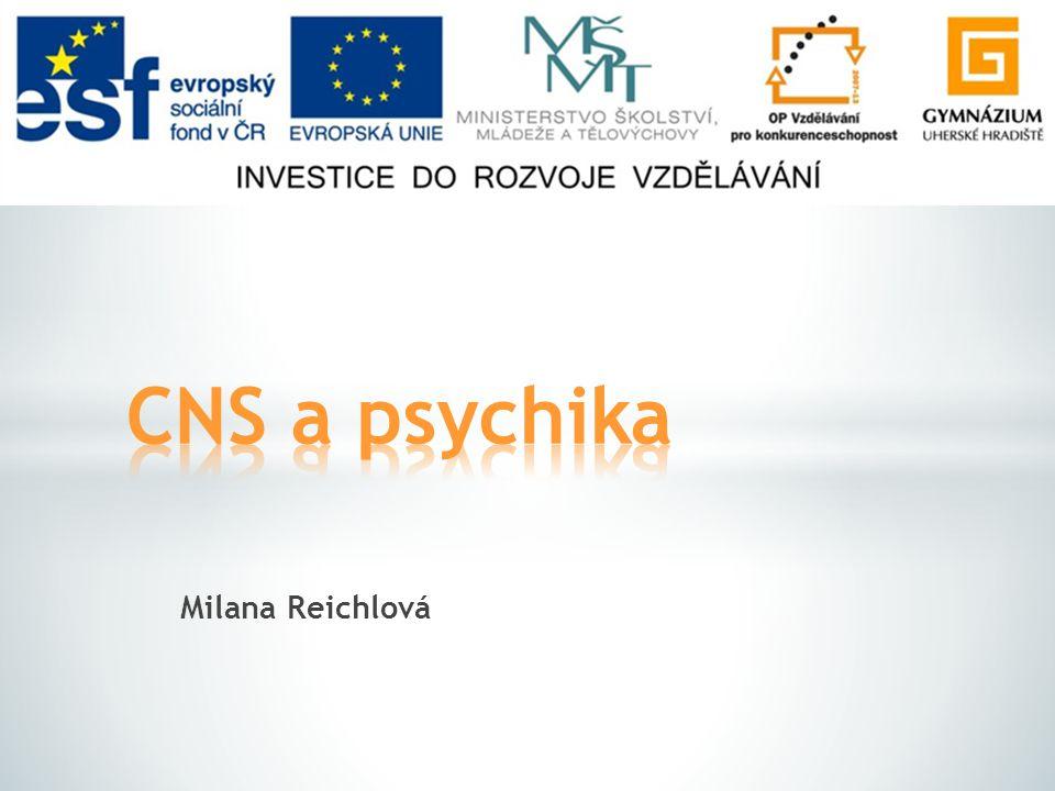 CNS a psychika Milana Reichlová