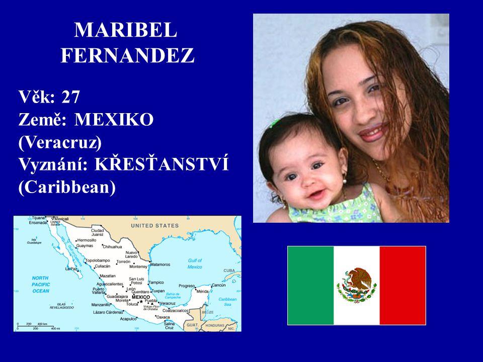 MARIBEL FERNANDEZ Věk: 27 Země: MEXIKO (Veracruz)
