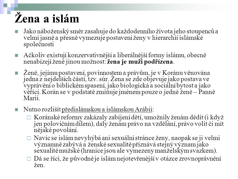 Žena a islám