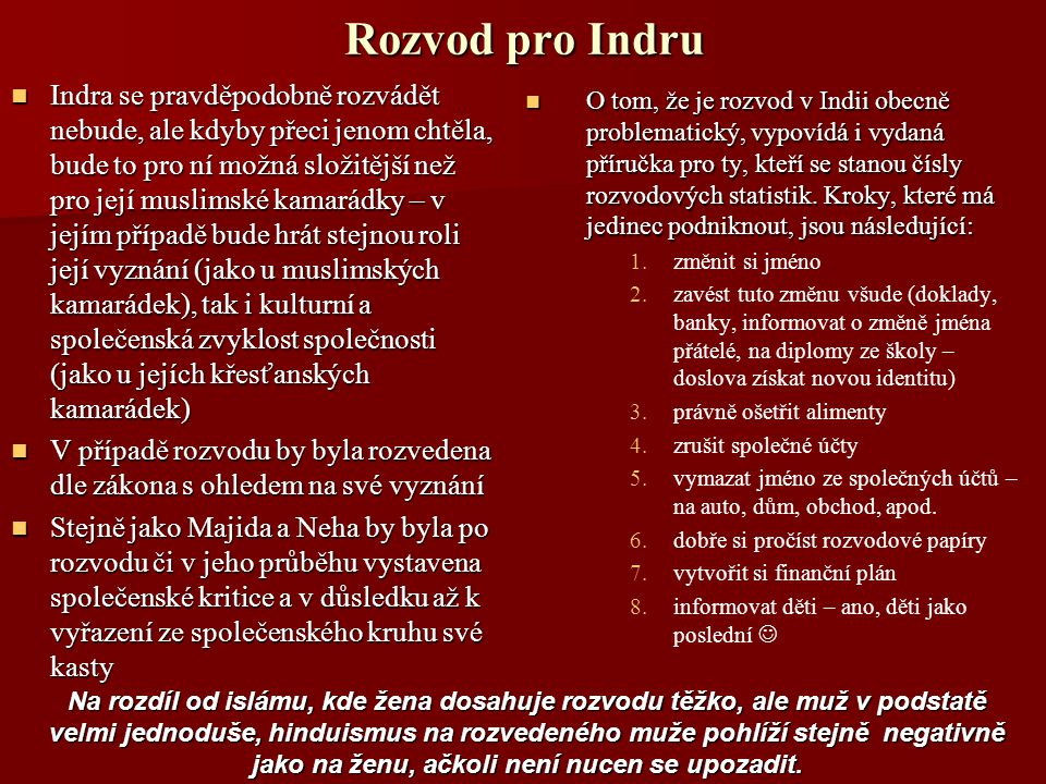 Rozvod pro Indru