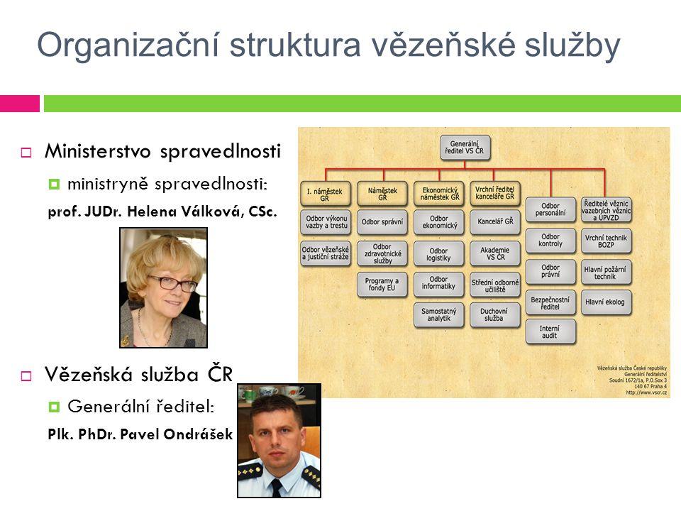Organizační struktura vězeňské služby