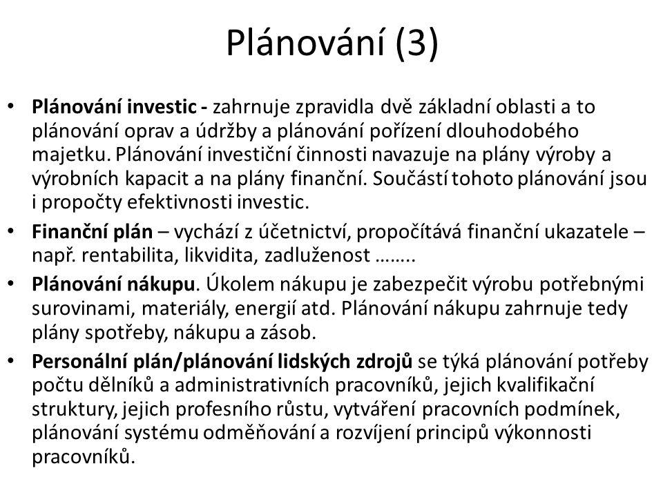 Plánování (3)