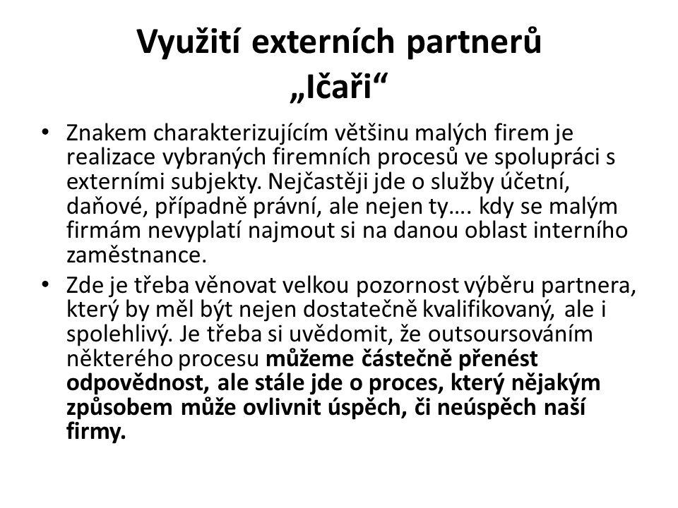 """Využití externích partnerů """"Ičaři"""