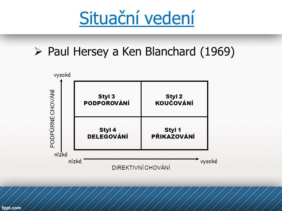Paul Hersey a Ken Blanchard (1969)