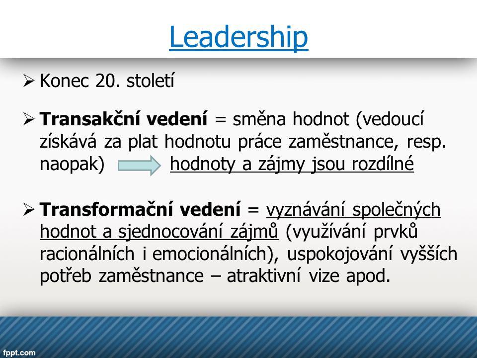 Leadership Konec 20. století