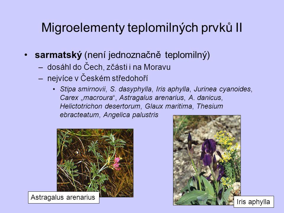 Migroelementy teplomilných prvků II