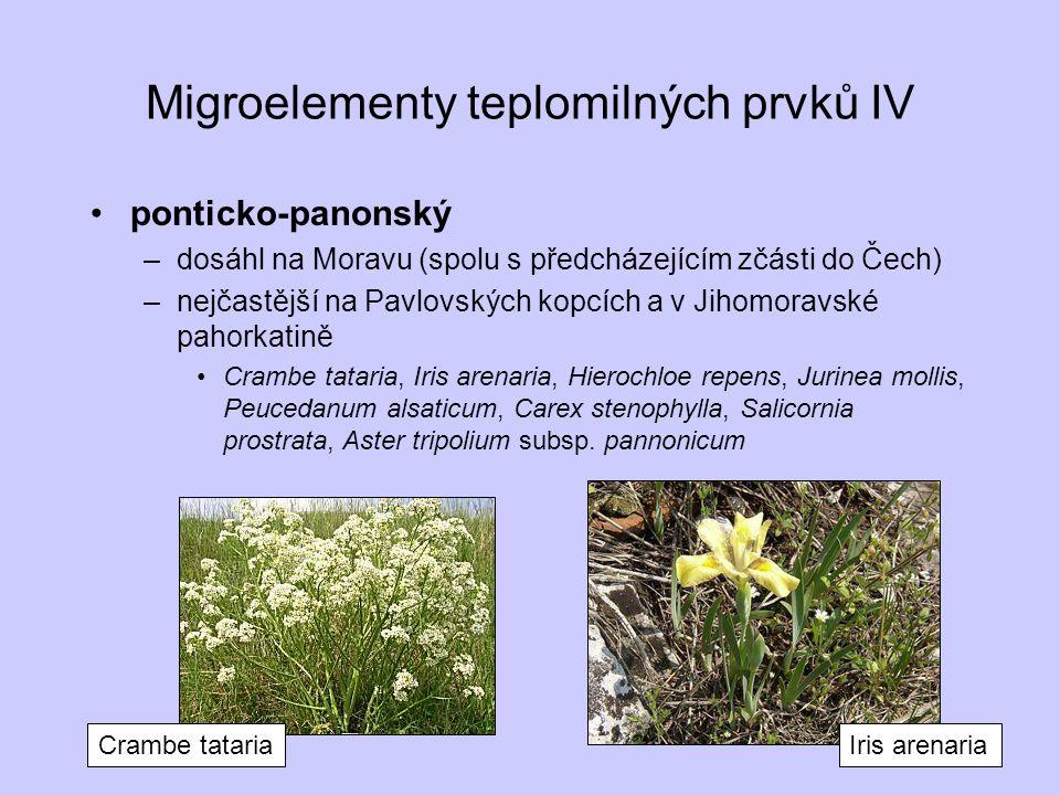 Migroelementy teplomilných prvků IV