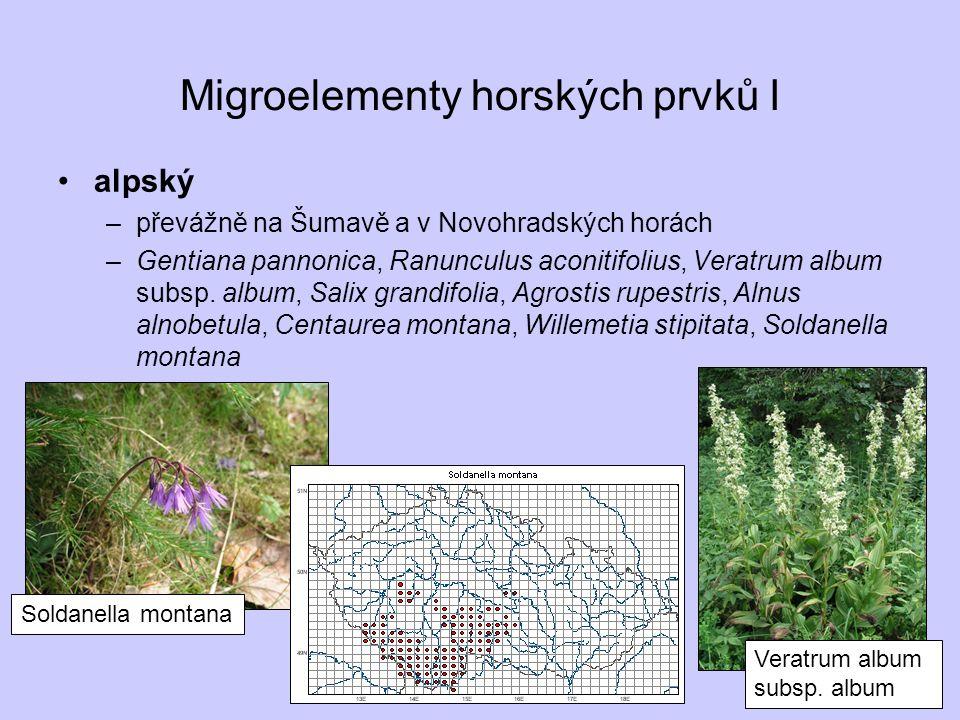 Migroelementy horských prvků I