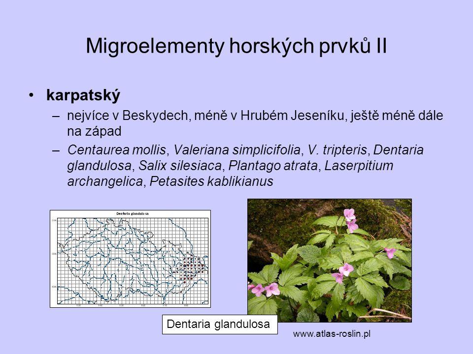 Migroelementy horských prvků II