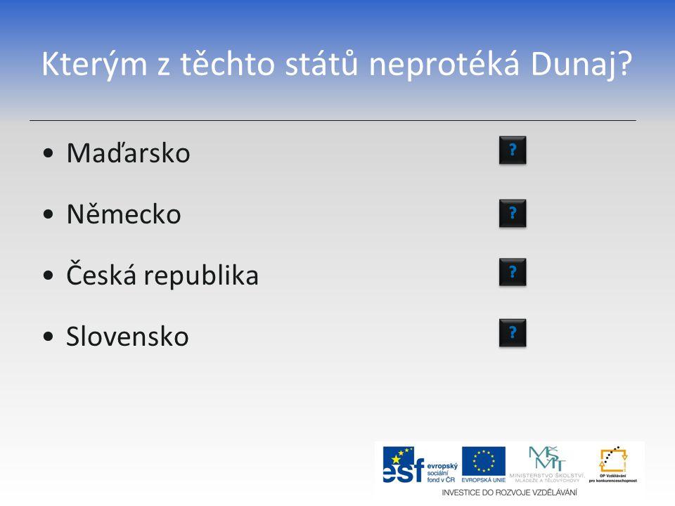 Kterým z těchto států neprotéká Dunaj