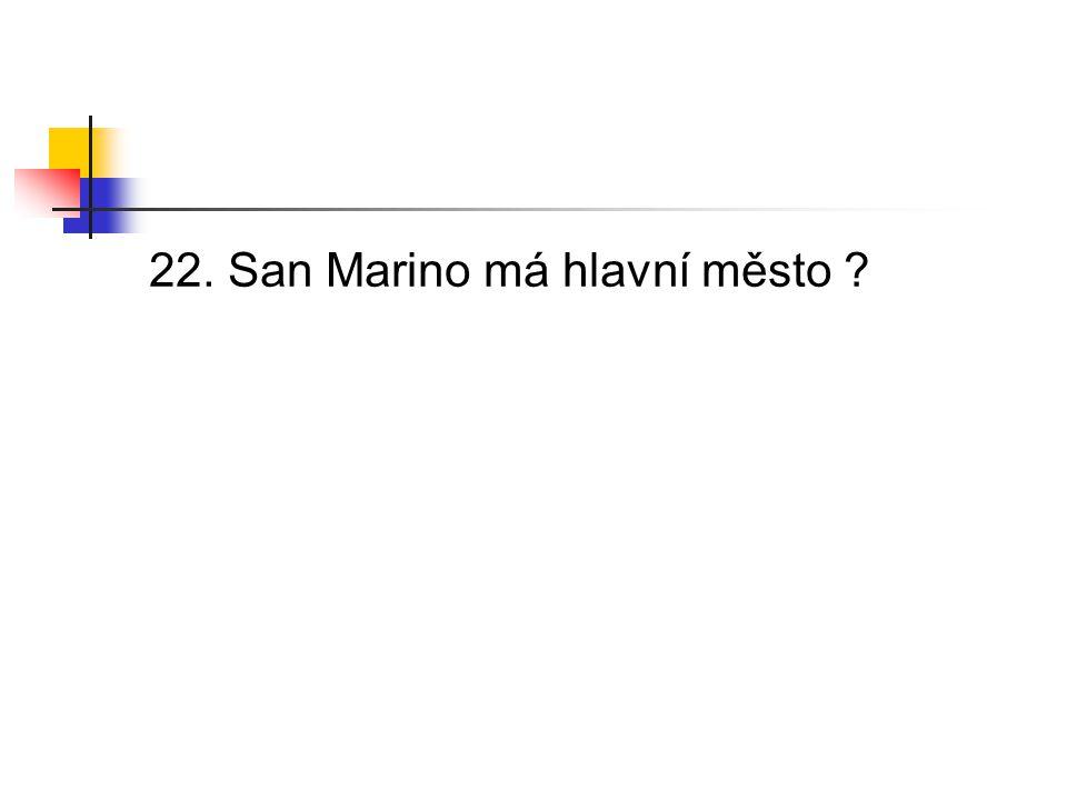 22. San Marino má hlavní město