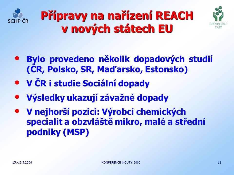 Přípravy na nařízení REACH v nových státech EU