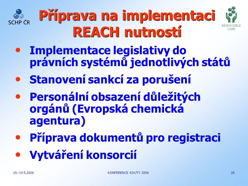 Příprava na implementaci REACH nutností