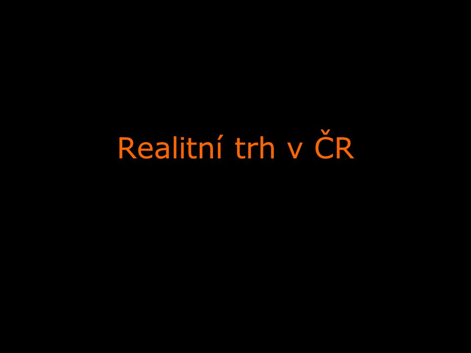 Realitní trh v ČR